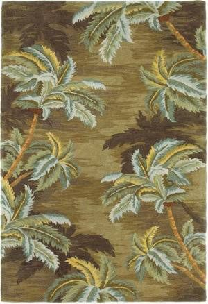 Awesome KAS Sparta Palm Trees Moss 3102 Area Rug