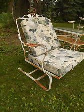 Marvelous Vintage Woodard Wrought Iron Patio Set   2 Chairs U0026 Table   ROcker DAISY