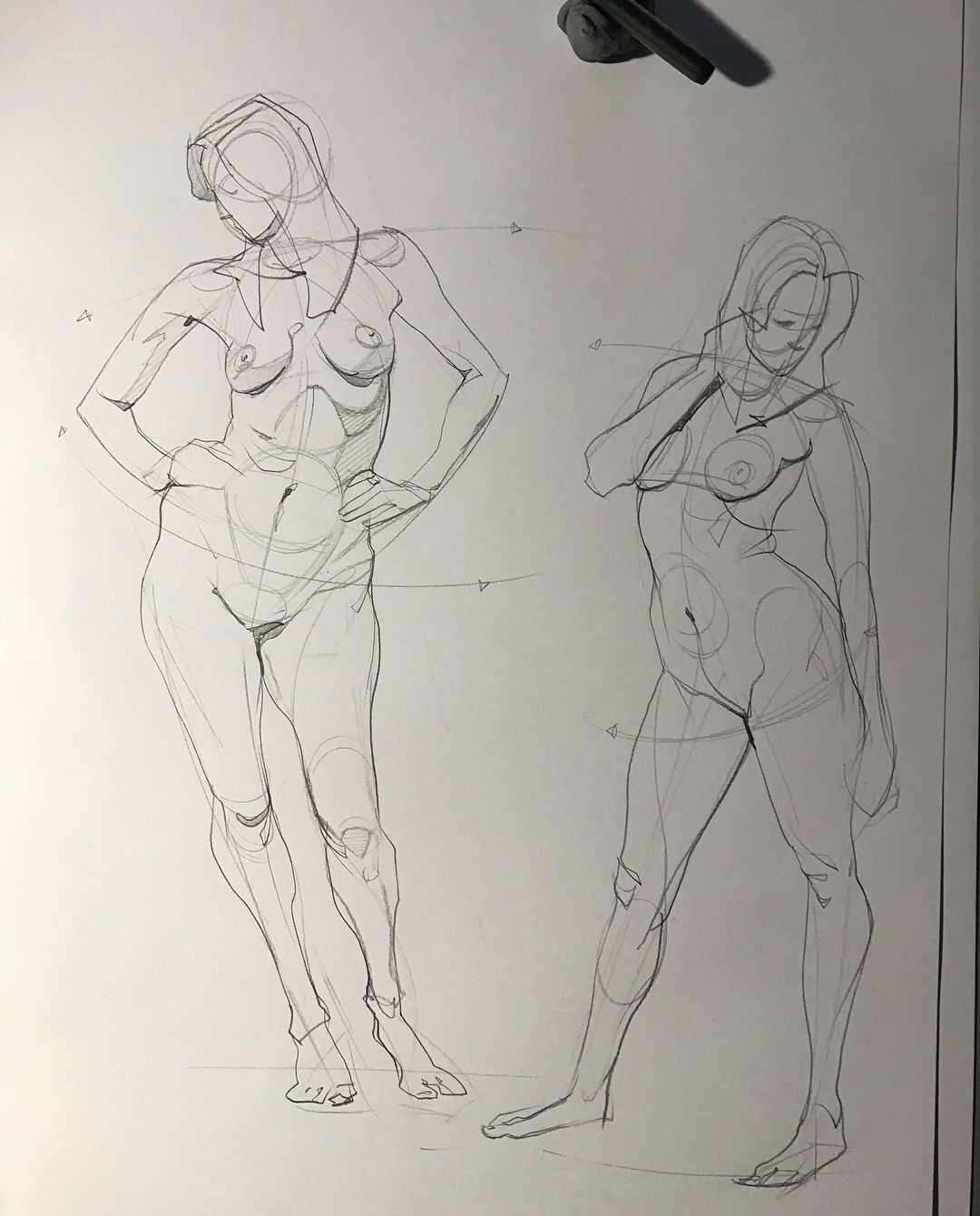 Today\'s figure drawing session from photo reference. #figuredrawing ...