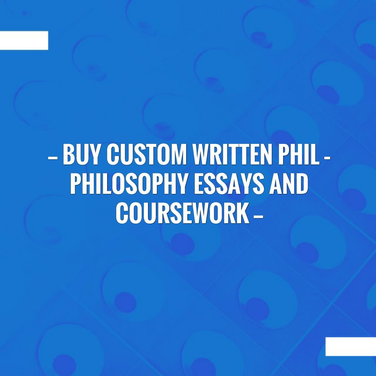 Custom philosophy paper