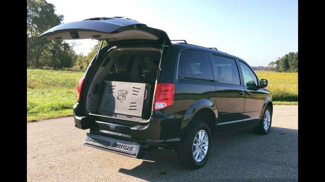 2014 Dodge Grand Caravan SXT Wheelchair Accessible Manual Rear Entry Ram.