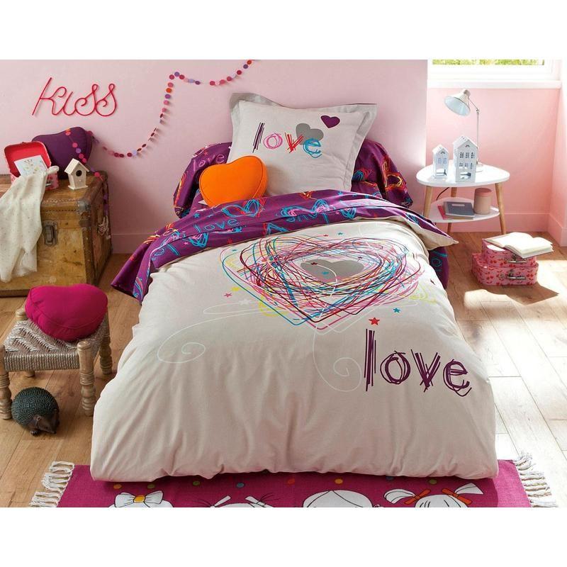 housse de couette jolis coeurs becquet la chambre en mode printemps avec becquet pinterest. Black Bedroom Furniture Sets. Home Design Ideas