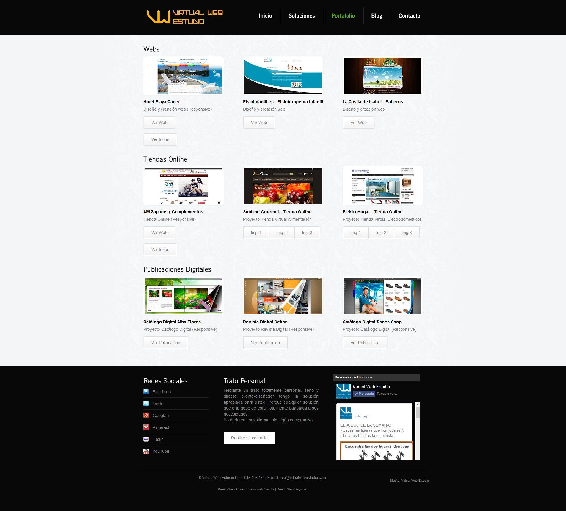 Web Virtual Web Estudio v.2 2013/14 - Portafolio #diseñoweb #paginasweb #DiseñadorWebValencia #DiseñadorWeb