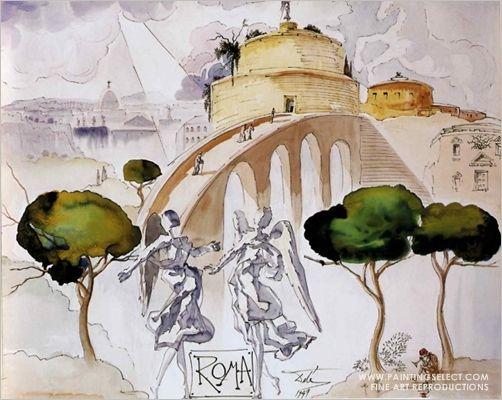 Salvador Dali print - Roma