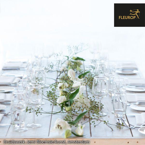 Tafeldecoratie Bruiloft Met Witte Bloemen Tafeldecoratie Bruiloft Bruidsboeket Tafeldecoratie