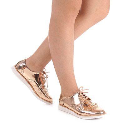 Sapato Oxford Feminino Vizzano - Cobre | Shoe Bag Oxfords And Bag