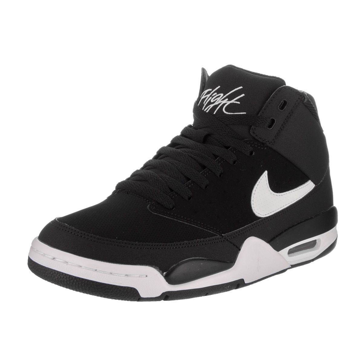 567b7eec5705 Nike Men s Air Flight Classic Black and White Basketball Shoes ...