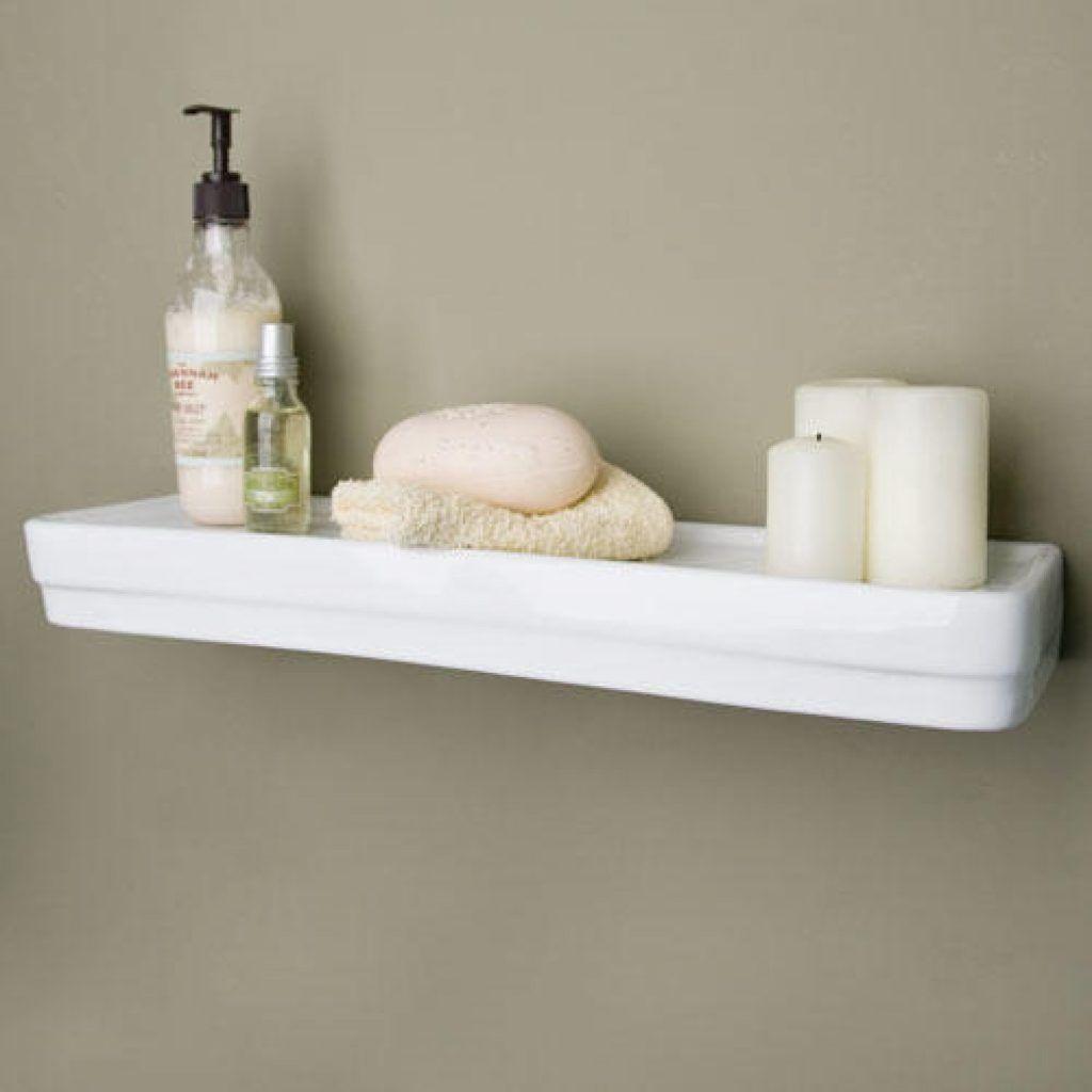 White Porcelain Bathroom Shelves