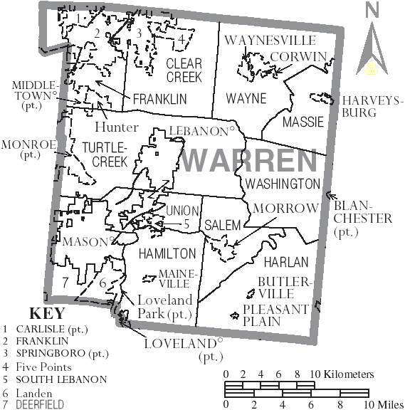 Map Of Warren County Ohio School Districts Google Search Path Of