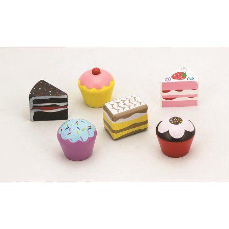 6 pcs Cake Set - Pretend Children Play Kitchen Game Food