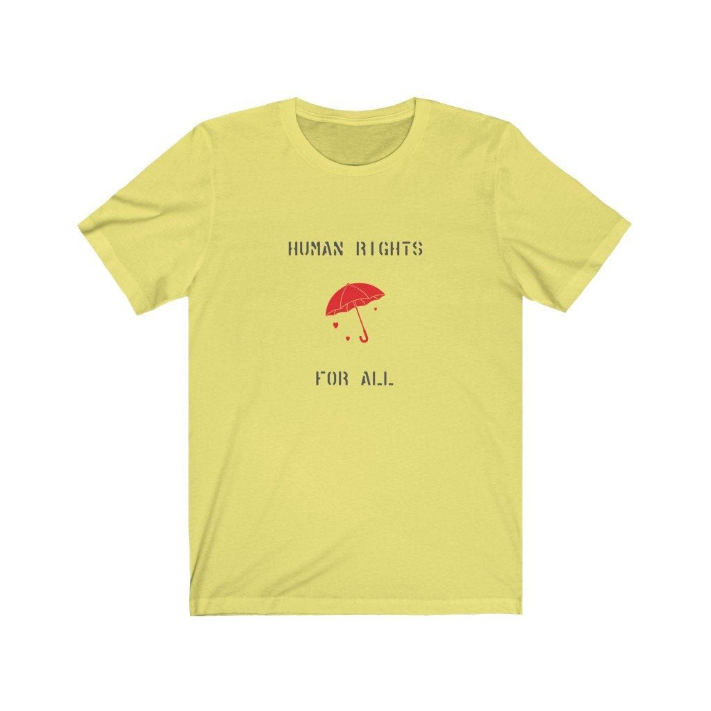 Human Rights For All Unisex Tee - Red Umbrella, International Day to End Violence Against Sex Workers