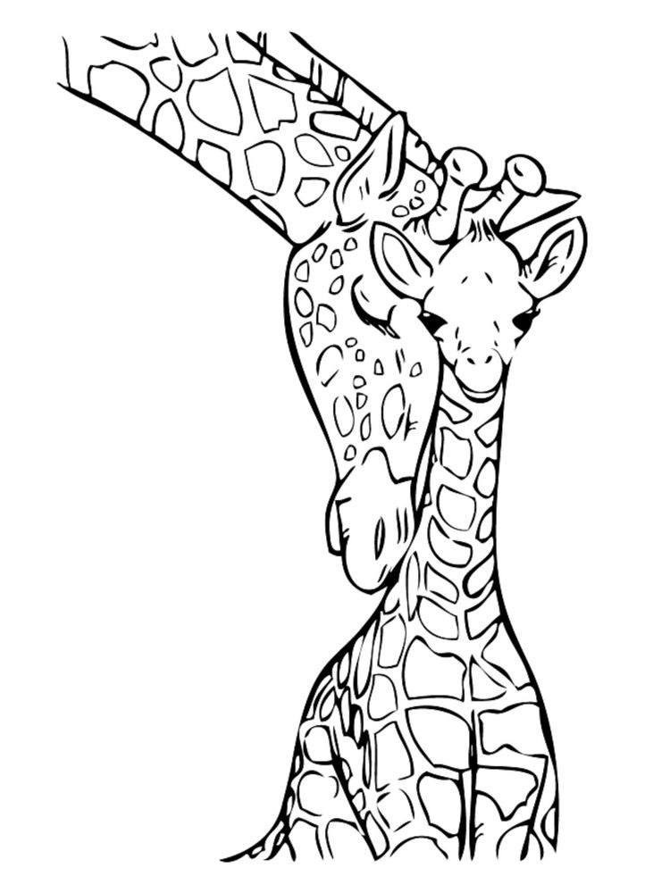 Giraffe Coloring Pages Below Is A Collection Of Giraffe Coloring Page Which You Can Download Giraffe Coloring Pages Animal Coloring Books Zebra Coloring Pages