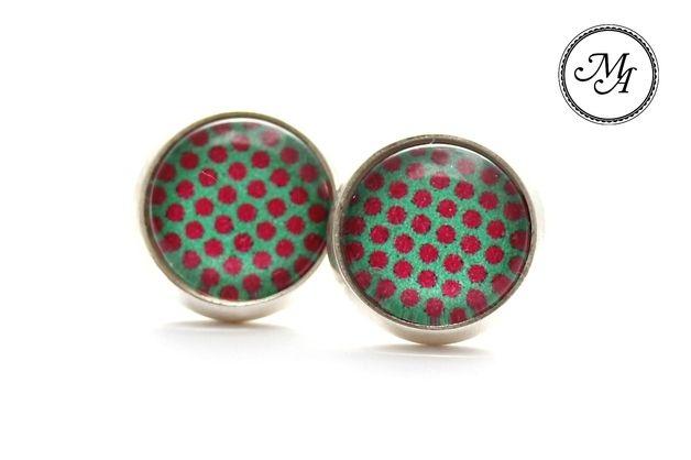 """Silver studs """"lolli dots"""" /1281"""
