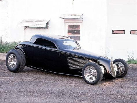 bobby alloway trackstar coupe all black on the outside the coupe has flames under the hood as. Black Bedroom Furniture Sets. Home Design Ideas