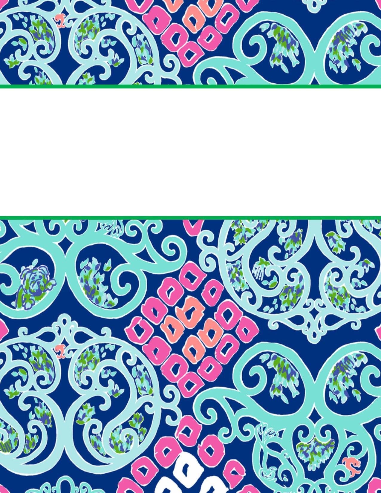 Book Cover Portadas Kawaii : Lilly pulitzer binder cover templates pixshark