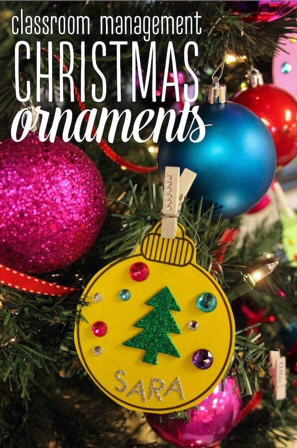 Use Christmas Ornaments to Colorize Your Classroom Management ...