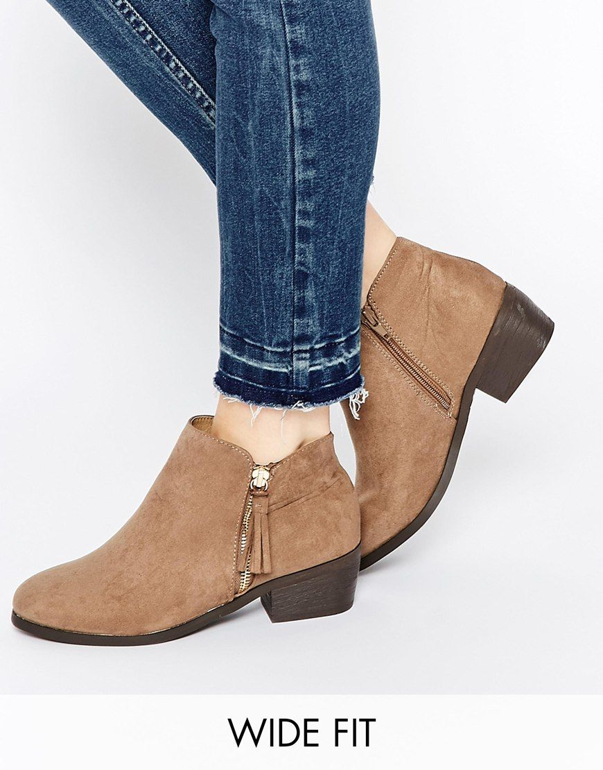 Buy Women Shoes / New Look Wide Fit Western Flat Boots
