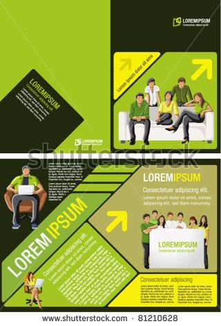 Yellow Green And Black Template For Advertising Brochure With