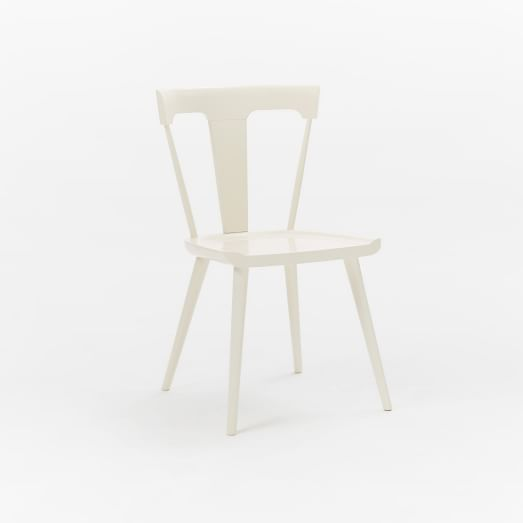West Elm Splat Dining Chair White Dining Chairs