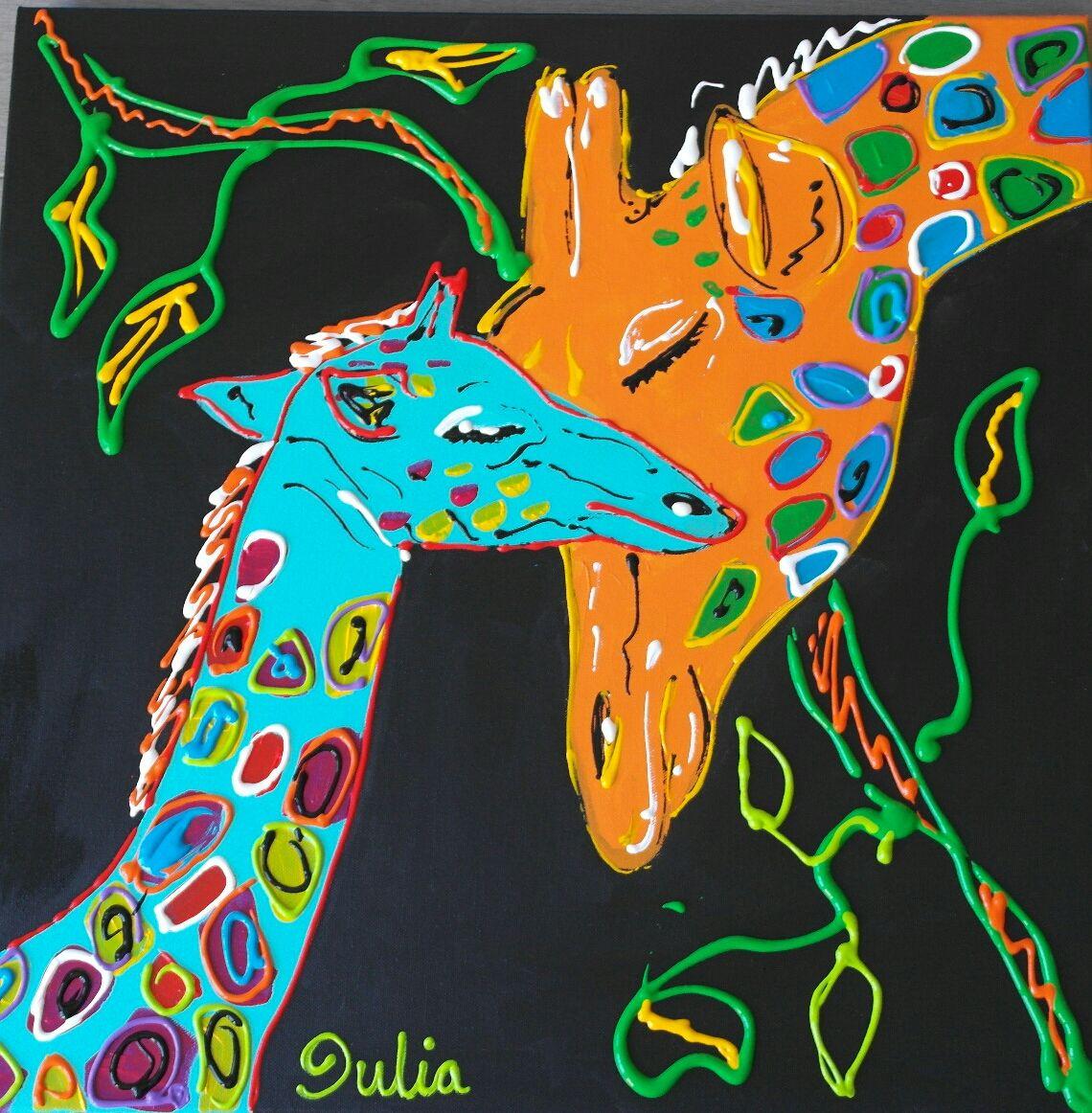 Girafas mother love