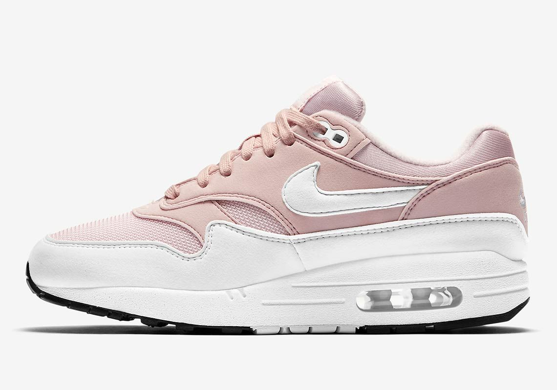Wmns Air Max 1 Barely Rose white
