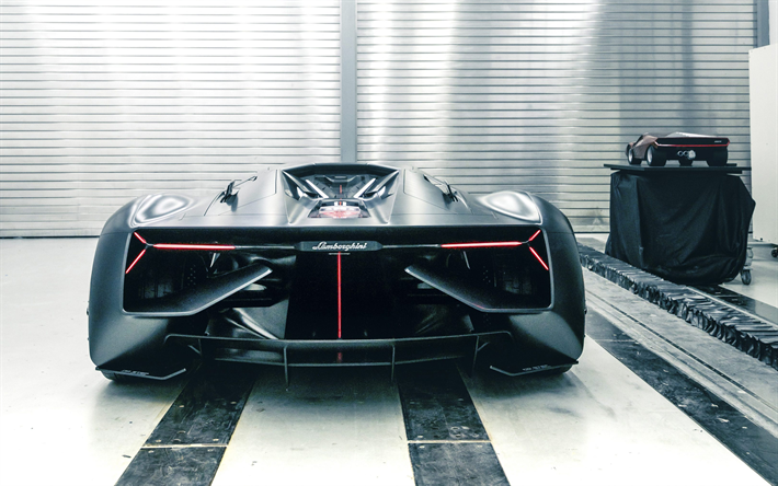 Download Wallpapers Lamborghini Terzo Millennio 2017 4k Rear View