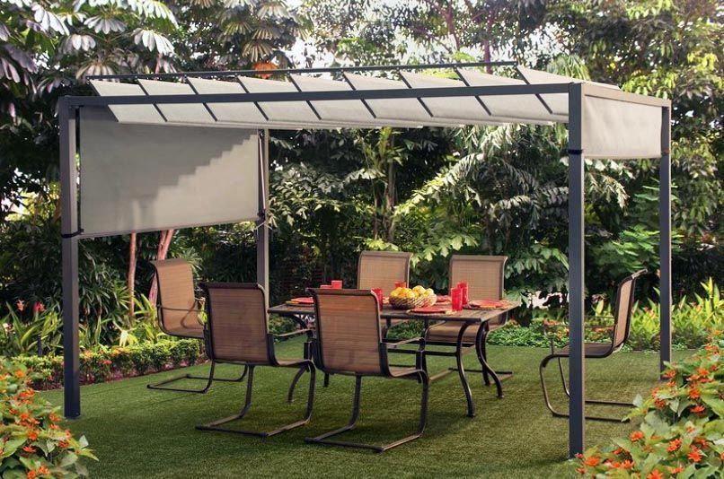 Modern metal pergola kit with sun shade #pergolaplans #pergolakits - Modern Metal Pergola Kit With Sun Shade #pergolaplans #pergolakits