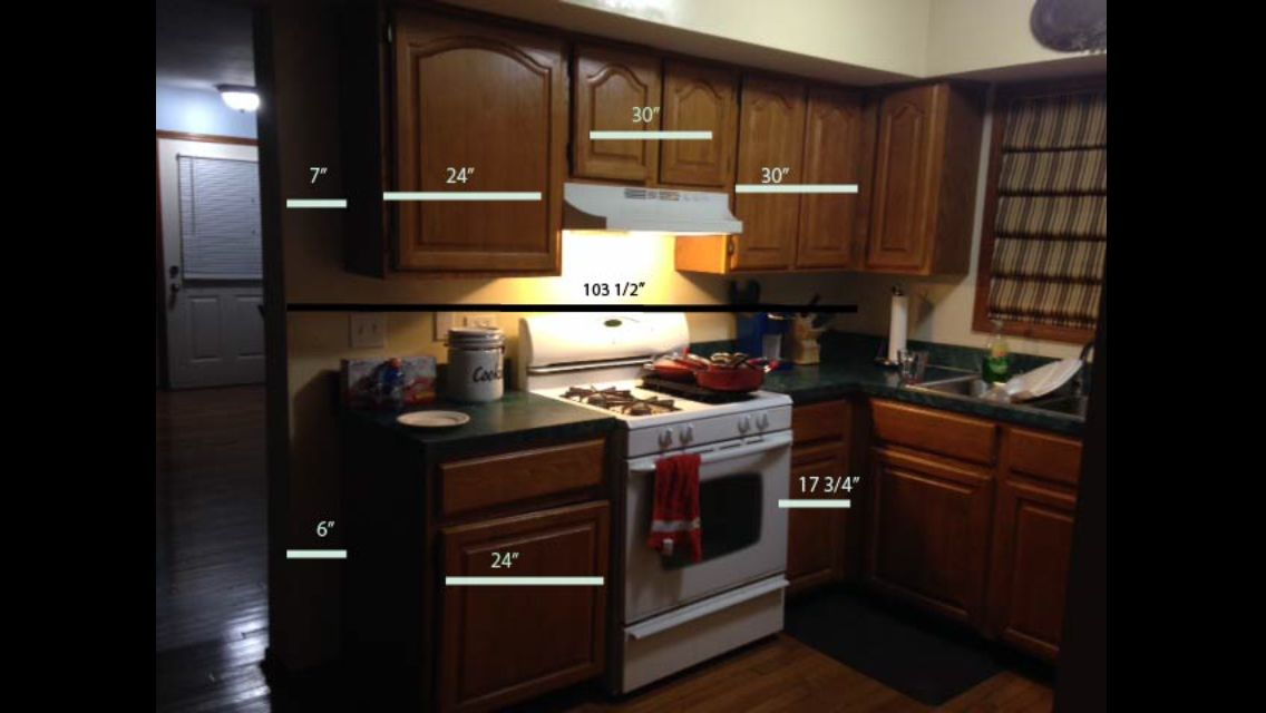 My range wall dimensions   Kitchen, Kitchen cabinets, Home ...