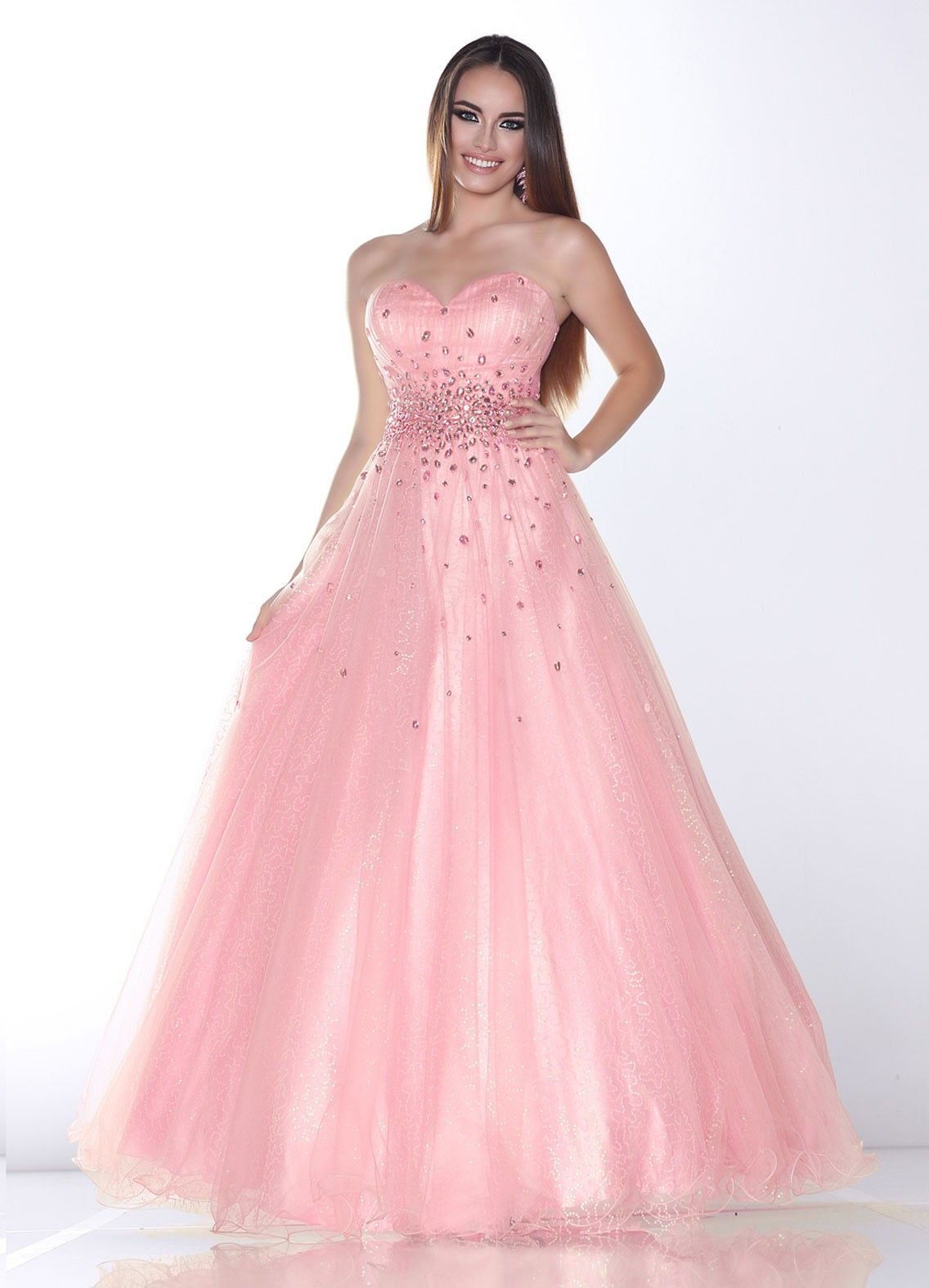 Sweetheart floor length pink tulle a line prom dress oxc0076 http dress online ombrellifo Image collections