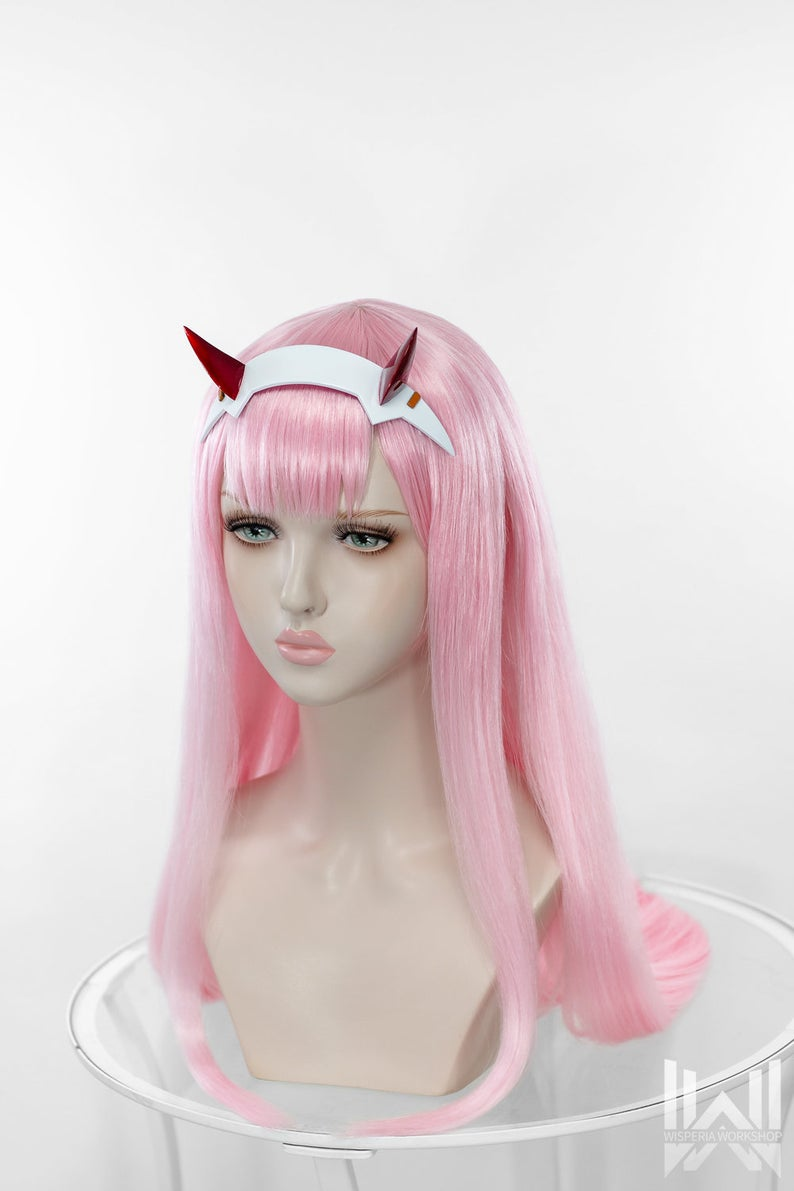 Zero Two Wig Horns Darling In The Franxx Made To Order In 2021 Darling In The Franxx Zero Two Wigs