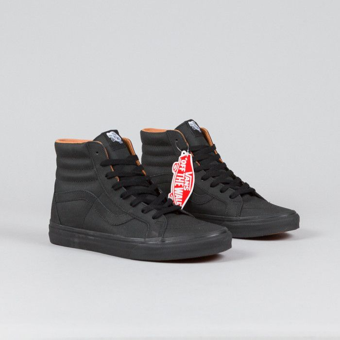 vans sk8-hi black/dark gum fleece