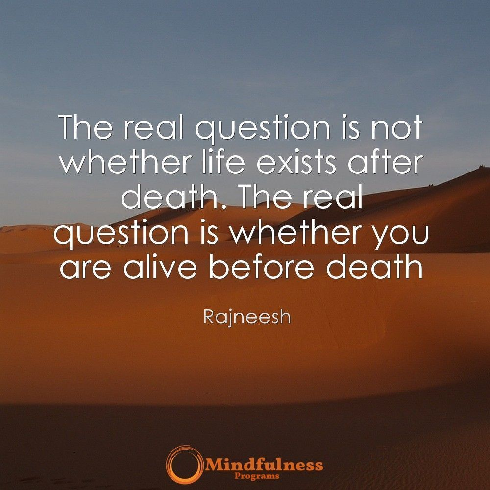 Quotes About Death And Life The Real Question Is Not Whether Life Exists After Deaththe Real