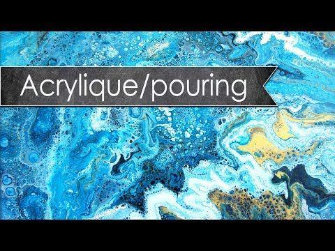 Tutoriel Toile Abstraite Acrylique Pouring Youtube