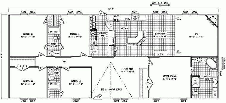 Double Wide Floor Plans 4 Bedroom - Google Search | Dreamin ...