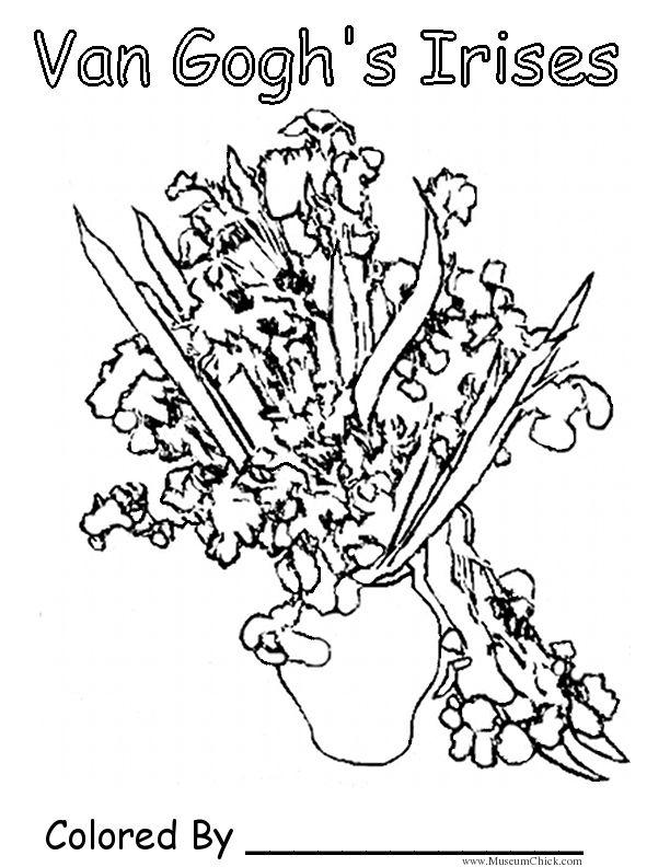 Van Gogh\'s Irises | Art Ed - Van Gogh | Pinterest | Dibujos para ...