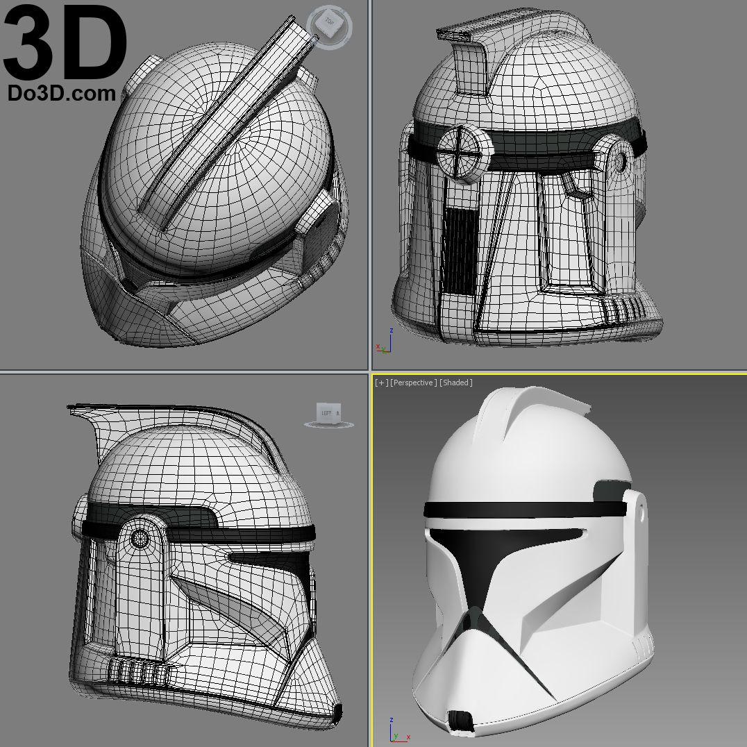3D Printable Model: Clone Trooper (Phase 1) Star Wars Helmet | Print