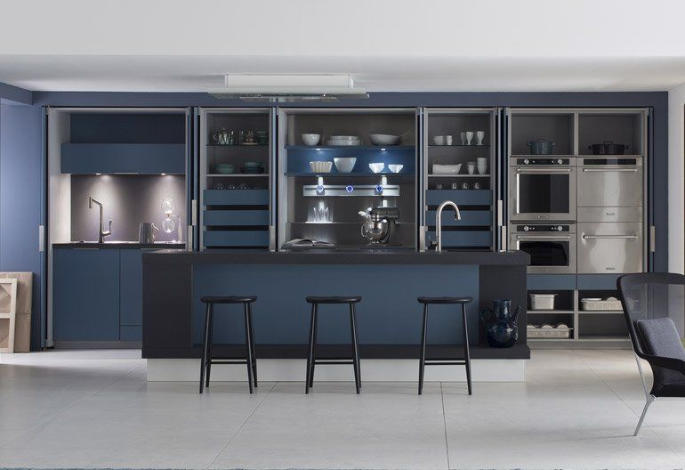 cuisine bleu petrole mf44 jornalagora. Black Bedroom Furniture Sets. Home Design Ideas