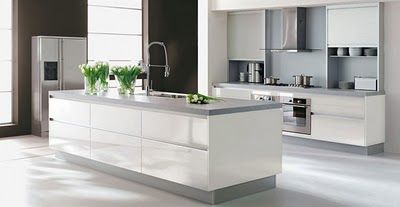 Casas minimalistas y modernas las cocinas con isla de for Cocinas modernas con isla central