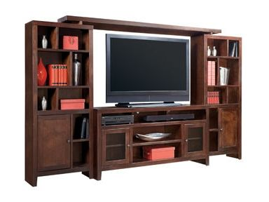 Aspenhome Essentials Lifestyle 120 Inch Entertainment Wall Unit With 4  Doors   Hudsonu0027s Furniture   Wall Unit Tampa, St Petersburg, Orlando,.