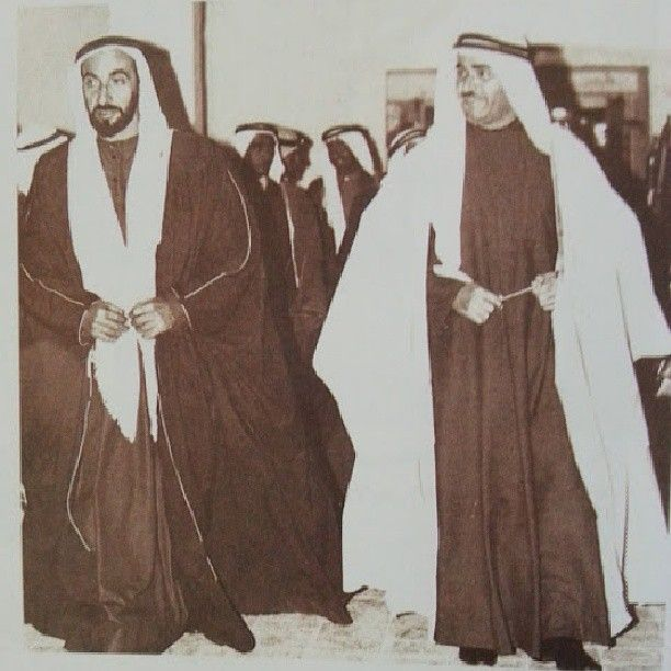 His Highness Sheikh Zayed bin Sultan on a visit to his