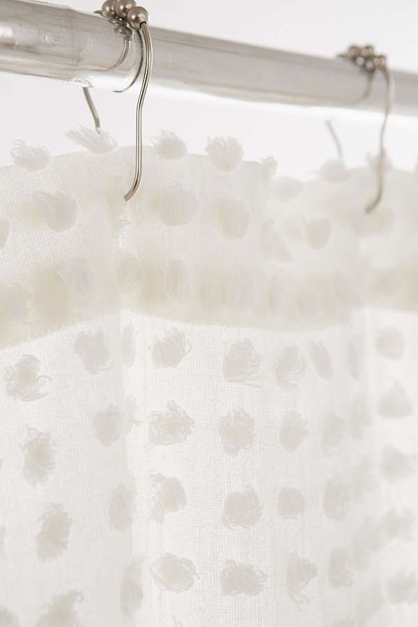 Plum & Bow Pompom Dot Shower Curtain | Warm industrial, Showers ...