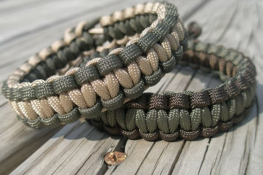 Paracord Bracelets Made Out Of Survival 550 Military Also Called Parachute Cord