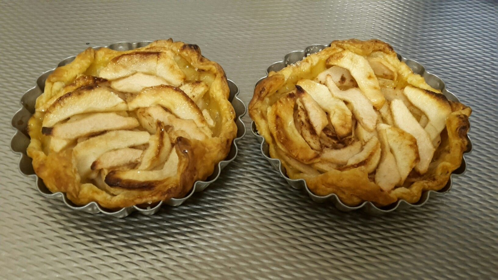 mini taartjes appel/peer