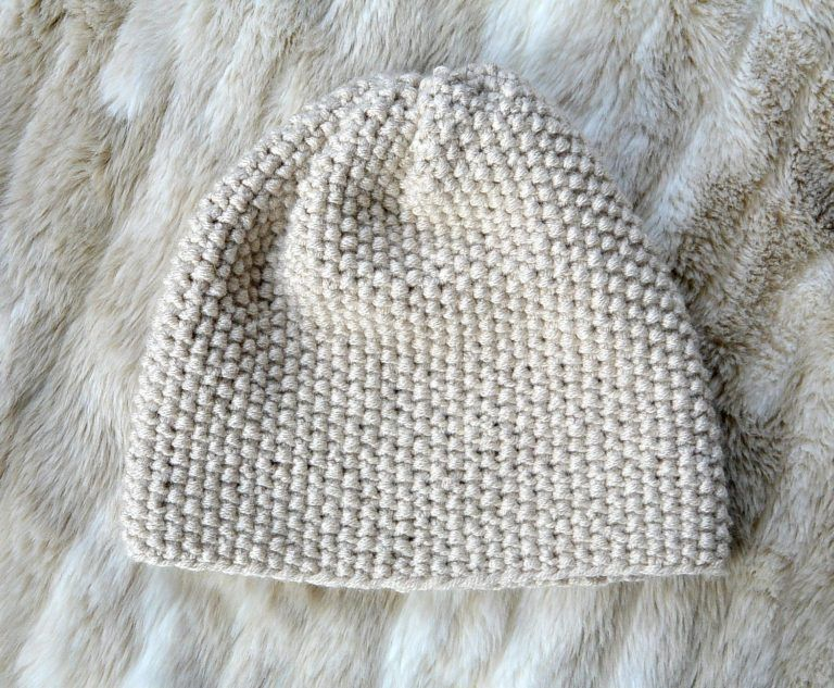 Favorite Textured Knit Hat - Free Pattern | Slouch hats, Easy and ...
