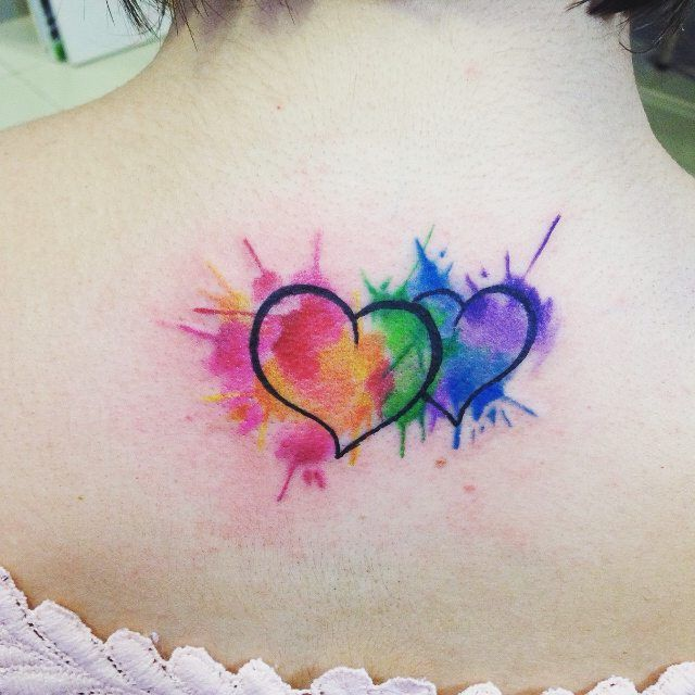 39 Pretty Watercolor Tattoo Ideas That Ll Convert Even The: Watercolor Heart...maybe Add Names
