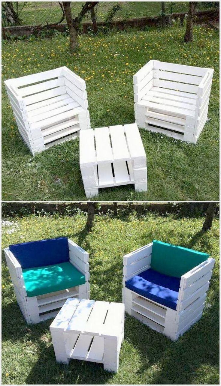 Einige interessante DIY-Ideen mit Holzpaletten - Brittany Rose #woodpalletfurniture
