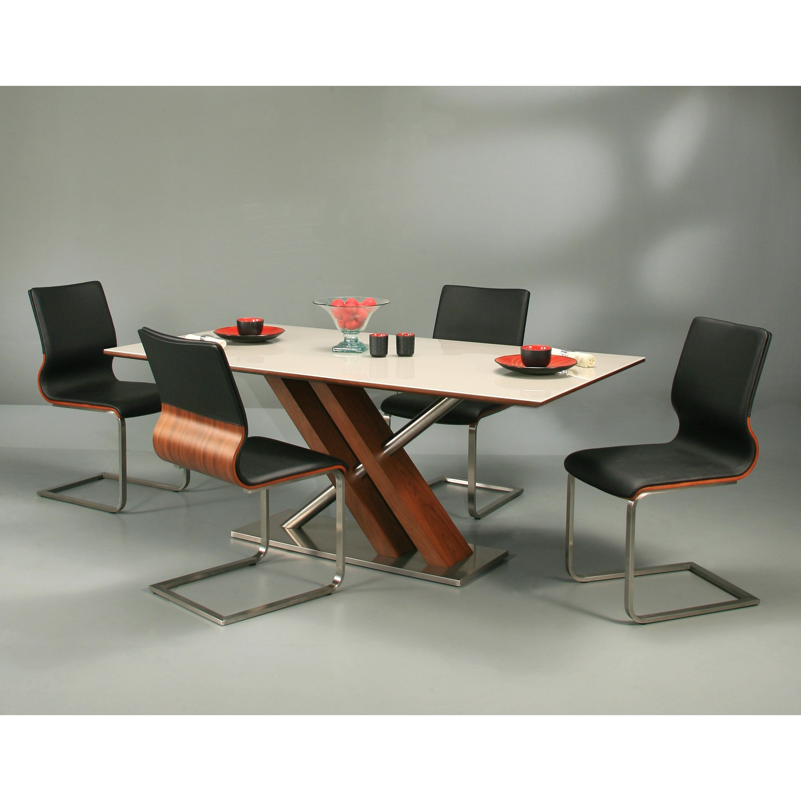 Have To Have It Pastel Furnture Charlize 5 Piece Walnut Dining Table Set With Charlize Chairs Black 2 Walnut Dining Table Dining Table Setting Dining Table [ 3200 x 3200 Pixel ]