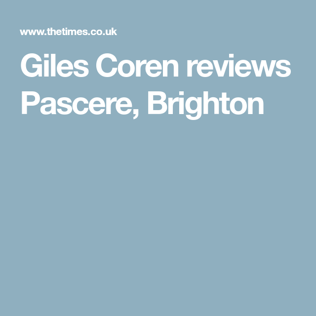 Sorry    | Restaurants | Brighton, The sunday times, Restaurant