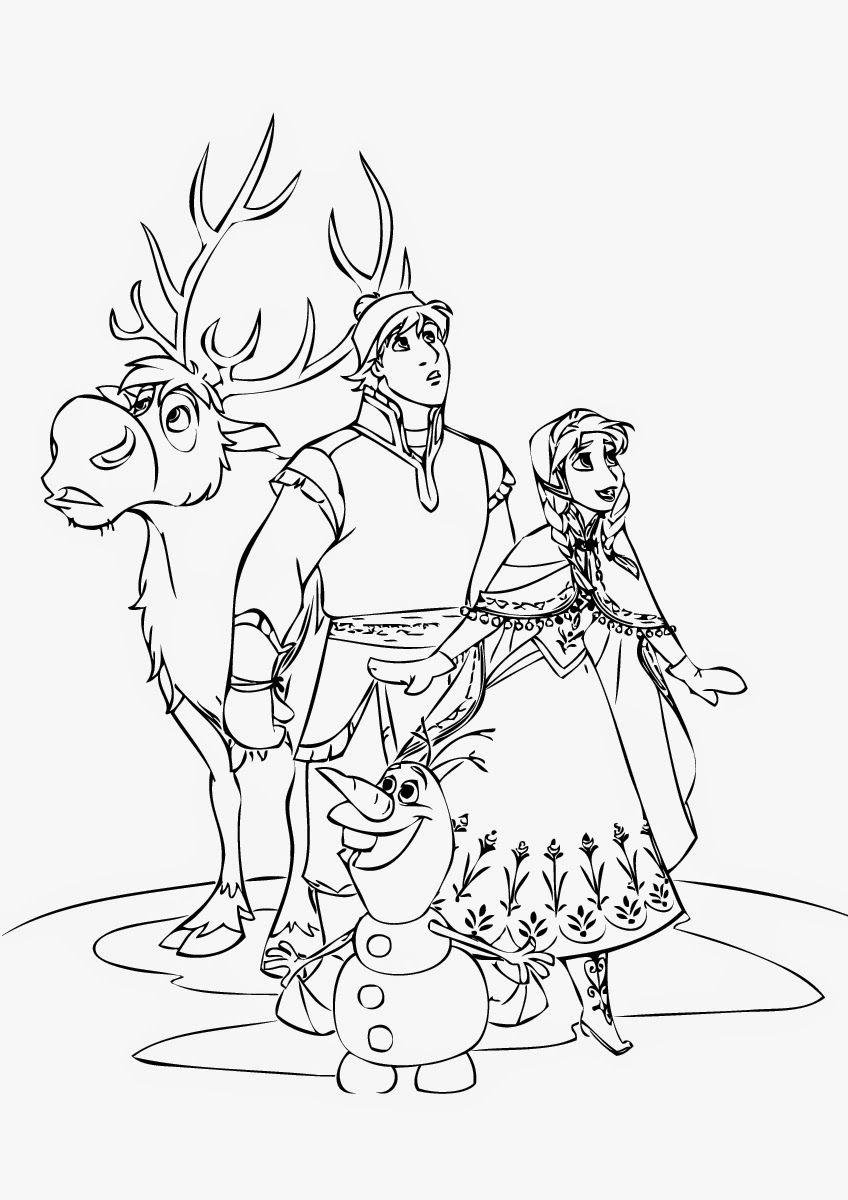 Disney Frozen Anna Coloring Page S Kristoff persuade