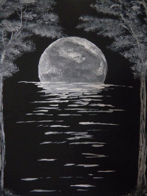 Moon River Painting Peinture Sur Toile Facile Peinture Sur